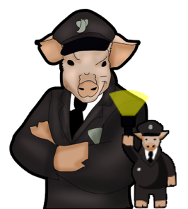 Officer Pig of 16 Bit