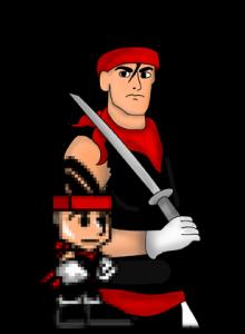 Spin the Ninja of 16 Bit